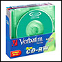 5 CD-RW vierge 4x Verbatim 210Mo 8cm Color en Jewel case