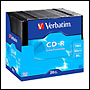 CD-R vierge 52x 700Mo Extra Protection Verbatim en Slim case 20 pcs