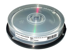 DVD+R Double Couche vierge Falcon Technologie 8x 8.5Go en Cakebox 10 pcs