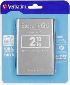 Disque Dur Externe USB 3.0 (100% compatible USB 2.0) 2To Verbatim