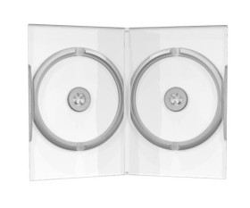 50 Boitiers DVD Double 14mm transparent Mediarange - BTDDVD50
