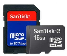 carte micro sdhc 16 go sandisk en bulk avec adaptateur sd prix bas. Black Bedroom Furniture Sets. Home Design Ideas