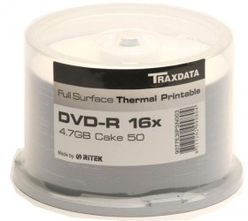 50 DVD-R vierge 16x RITEK Thermo Imprimable Full Surface en spindle